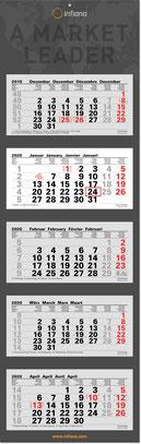 5-Monats-Mehrblock-Kalender 2019