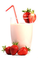 Erdbeer-Milchskaes selbst machen mit Aroma, Aromen für Milchshakes, Erdbeershake, Erdbeershakearoma
