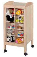 Meuble de rangement de doudous pour crèches et petite enfance. Meuble de rangement de doudous, mobilier pour petite enfance, assistantes maternelles, RAM à acheter pas cher.