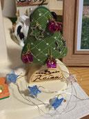 お客様が送ってくれたクリスマス仕様の木のモチーフ