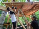 Baumhaus von Schülern gebaut