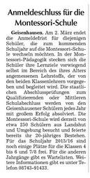 Erschienen in der Landshuter und Vilsbiburger Zeitung am 28.2.2015