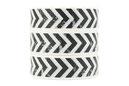 Washi Tape Muster Chevron schwarz weiß