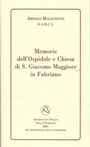 Memorie dell'ospidale e chiesa di S. Giacomo Maggiore in Fabriano