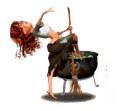 Dampferliquid aus dem hexenkessel