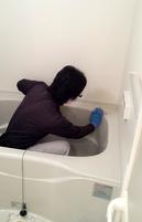 お風呂掃除の様子