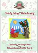 Spielbuch Teddy hängt Wäsche auf Freebook