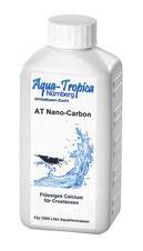 AT Nano-Carbon ist ein Flüssigcalciumprä- parat  zur allgemeinen Unterstützung des Gehäuseaufbau bei Schnecken.