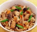 鶏肉とキノコの炊き込みご飯