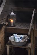 Körperpflegeprodukten aus Finnland, Saunahonig, Duschgel Heidelbeer, Sauna