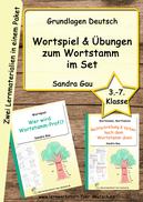 Wortstamm Wortfamilie, Lernwörter durch Ableiten üben, Verben mit Wortstamm lernen, Spiel Wortstamm Wortfamilie