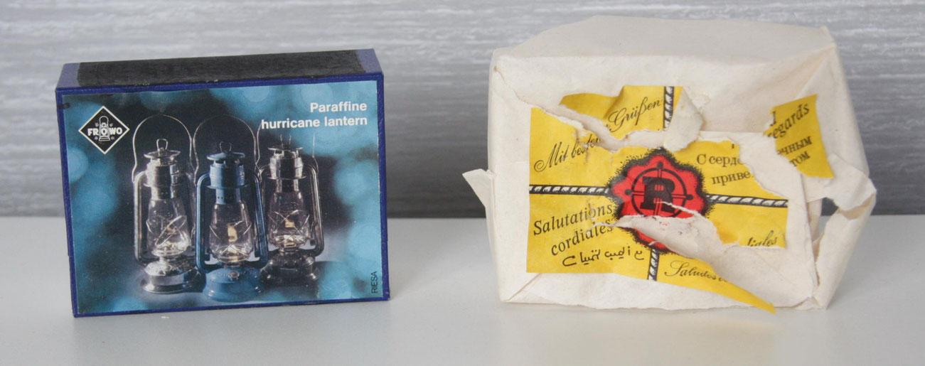 Große Zündholzschachtel in Präsentverpackung. zwischen 1986-1990