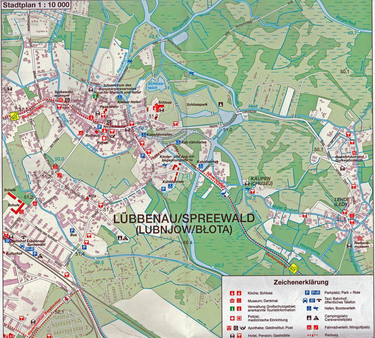 Der hauptsächlich von Touristen besuchte Teil von Lübbenau