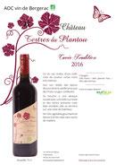 Tertres du Plantou - Bergerac Bio - Cuvée Tradition 16