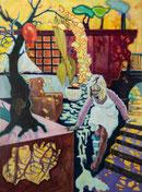 """Ins Ungewisse"" 2013, Acryl/Leinwand 80x60 cm"