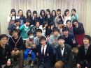 卒業パーティー記念撮影