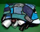 Kulturbeutel in japanischer Flechttechnik, Mosaik