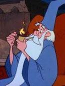 Merlin l'enchanteur fume la pipe mais pas une Louis Vuitton