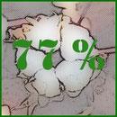 Pourcentage de coton bio présent dans le produit