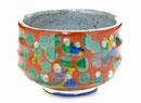 九谷焼『抹茶碗』木米写し 下塗り ハート