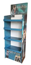 Harry Potter Regal Display für den POS. Aus bedruckter und kaschierter Pappe