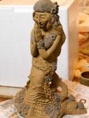 楽々土像 彫塑 立花雪 YukiTachibana