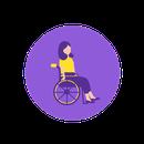 icone personne en fauteuil roulant