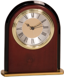 "6 1/2"" Mahogany Finish Arch Clock"