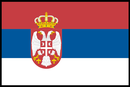 Present day Serbian flag