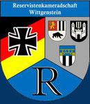 Wappen der Reservistenkameradschaft Wittgenstein. Bestehend aus den drei Städten: Bad Berleburg, Bad Laasphe und Erndtebrück