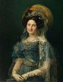 Imagen de María Cristina de Borbón-Dos Sicilias durante el periodo de su regencia.
