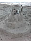 Sandburg Strandkorb Juliusruh