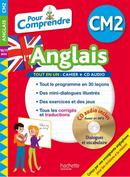 """Un livre avec CD intitulé """"Pour Comprendre l'Anglais"""",pour CM2 de Joanna Le May, publiée par Hachette."""