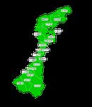 ポスティング石川(北陸中部)配布部数表
