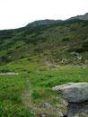 Es war ziemlich windig und kalt, so wanderte ich rasch weiter. Rechts am See vorbei und gleich wieder mäßig ansteigend führte mich der Weg weiter Richtung, dem 250m höher gelegenen,Seekoppe-Gipfel.