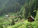 Vorbei an der 1455m hoch gelegenen Mitterrieder Jagdhütte …