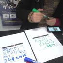 HMV立川店 一緒の試聴機に入ってるパリテキのPOPまで書いちゃいました(笑)