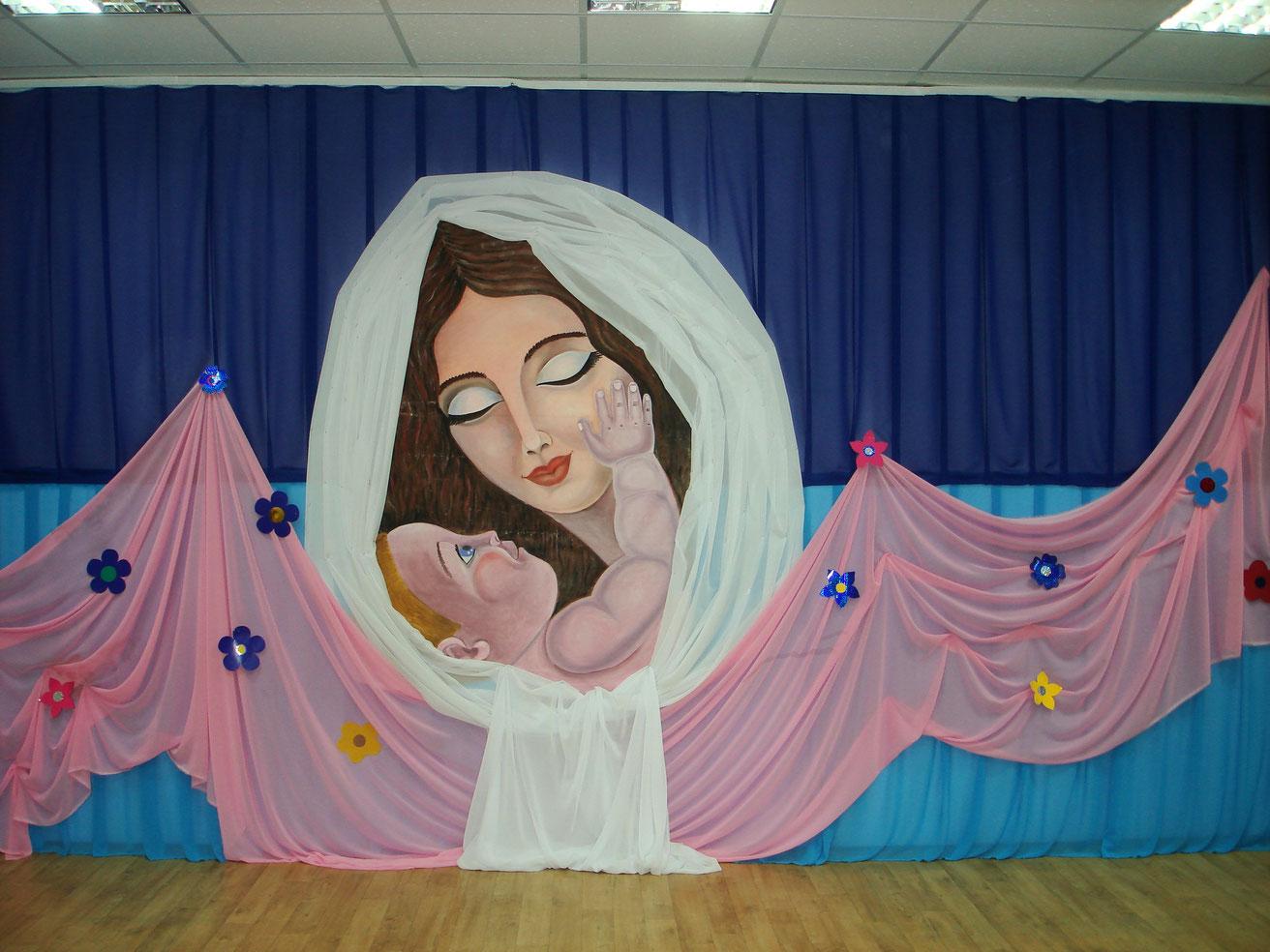 Оформления сцены в детском саду картинки