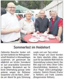 Nachlese zum Sommerfest im Heidehort mit Gudrun Pieper MdL, Pastor Petzold, Bürgermeister Leverenz