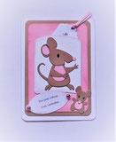 Karten mit Mäusen für Gutschein oder Geldgeschenke