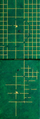 Golden Grid 10  mini    SM×2   158mm×454mm   Acrylic 2012