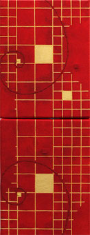 Golden Grid 8  mini me   sun red  F0×2   140mm×360mm   Acrylic 2012