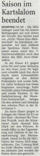 Nordwest Zeitung 05.09.18