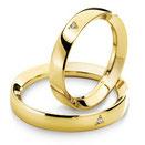 Fede Nuziale Ivana e Lorenzo in oro giallo con diamante ANB716G