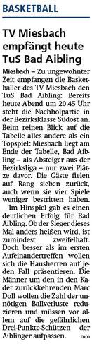 Artikel im Miesbacher Merkur am 1.3.2019 - Zum Vergrößern klicken