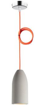Betonlampe light neon orange