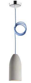 Betonlampe light hellblau