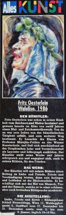 """Fritz Oesterlein zur Ausstellung """"Liebe, Friede und Kritik"""""""