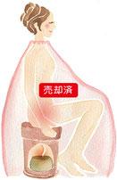 水彩風(よもぎ蒸し女性イラスト)