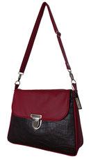 """Tasche """"Ella"""" aus braunem und rotem Leder"""